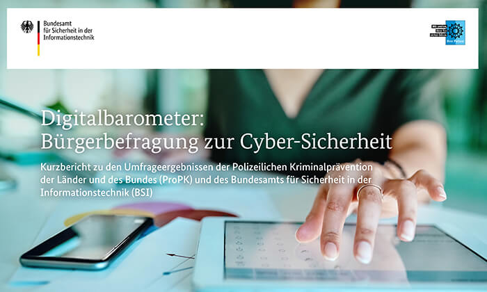 Titelblatt des Digitalbarometers 2019