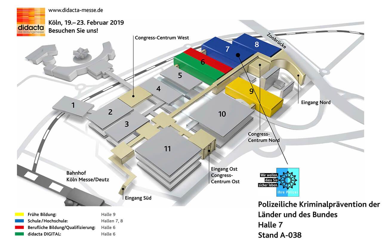 Didacta 2019 Hallenplan