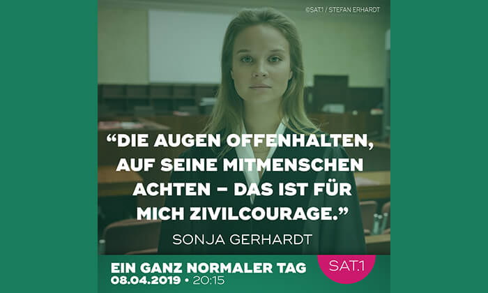Zivilcourage: SAT.1 zeigt Themenfilm am 8. April