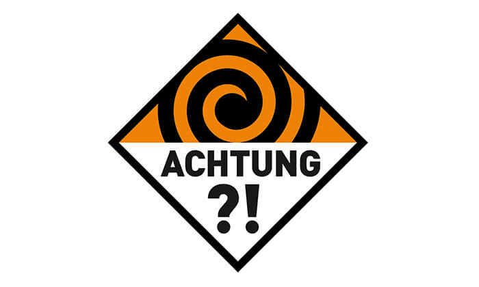 "Logo Kampagne ""ACHTUNG?!"""
